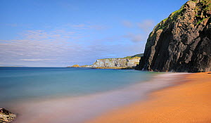 Beach and cliffs east of Ballintoy village, North Antrim, Northern Ireland, UK, July 2011 - Robert Thompson