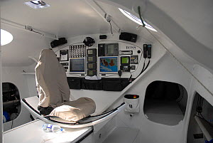 Navigation station on board Open 60 'Hugo Boss', August 2006. All non-editorial uses must be cleared individually. - Nic Compton