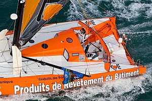 IMOCA open 60 'PRB' at start of Transat Jacques Vabre, Le Havre, France, November 2011. All non-editorial uses must be cleared individually.  -  Benoit Stichelbaut