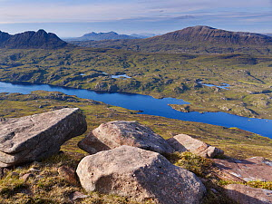 View from Cul Mor towards Suilven, Coigach / Assynt SWT, Sutherland, Highlands, Scotland, UK, June 2011  -  Joe Cornish / 2020VISION