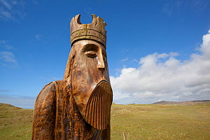 Sculptured Norse figure, Traigh Uige, Isle of Lewis, Western Isles / Outer Hebrides, Scotland, UK, May 2011 - Peter Cairns / 2020VISION