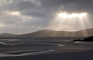 RF- Traigh Losgaintir beach and estuary in evening light, North Harris, Western Isles / Outer Hebrides, Scotland, UK. May 2011. (This image may be licensed either as rights managed or royalty free.)  -  Peter  Cairns / 2020VISION