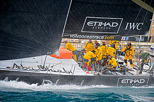 'Azzam' (team Abu Dhabi) starting Leg 1 of the 2011-2012 Volvo Ocean Race. Alicante, Spain, November 2011. All non-editorial uses must be cleared individually. - Rick Tomlinson