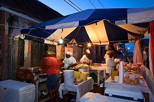 Friday night market in the fishing village of Gouyave, Grenada, West-Indies, Caribbean, May 2009. - Michele Westmorland