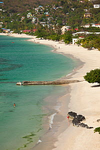 View across Grand Anse Bay and Beach near the capital St George's. Grenada, West-Indies, Caribbean, May 2009. - Michele Westmorland
