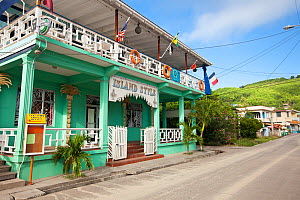 Colourful building on the island of Bequia, The Grenadines, Caribbean, May 2009. No release.  -  Michele Westmorland