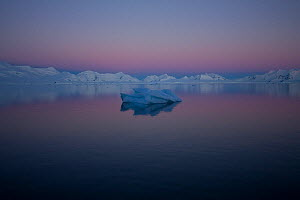 Floe ice off the Antarctic peninsula at dawn, Antarctica, January 2009, Taken on location for BBC Frozen Planet series  -  Kathryn Jeffs