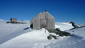 Abandoned research station on Detaille Island, Antarctica, February 2009, Taken on location for BBC Frozen Planet series  -  Kathryn Jeffs