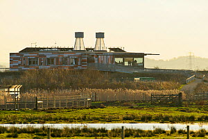 Visitor Centre at Rainham Marsh RSPB Reserve, Thames Futurescapes Project, Essex, UK, January 2011  -  Terry Whittaker / 2020VISION