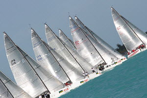 Melges 32 fleet start at Key West Race Week, Florida, USA, January 2012. All non-editorial uses must be cleared individually. - Ingrid Abery
