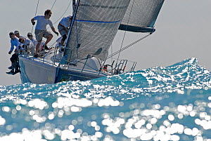 Farr 40 winner 'Barking Mad' during a race on day 2 of Key West Race Week, Florida, USA, January 2012. All non-editorial uses must be cleared individually. - Rick Tomlinson
