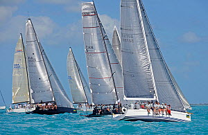 IRC3 and High Performance start on day 2 of Key West Race Week, Florida, USA, January 2012. All non-editorial uses must be cleared individually.  -  Rick Tomlinson