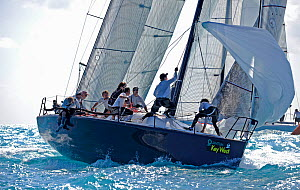 Farr 40 'Struntje Llght' during a race on day 2 of Key West Race Week, Florida, USA, January 2012. All non-editorial uses must be cleared individually.  -  Rick Tomlinson