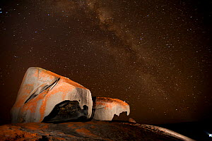 Remarkable Rocks at night, Flinders Chase National Park, Kangaroo Island, South Australia State, Australia, September 2011.  -  Inaki Relanzon