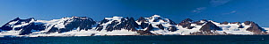 Panoramic landscape of Kings Karls Forland Island,  National Park, Spitzbergen, Svalbard, Norway,  July 2011.  Digital Blend of images - Christophe Courteau