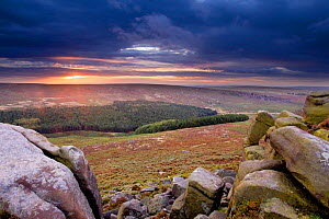 View from Higger Tor at dawn, Peak District NP, UK, September 2011 - Ben Hall / 2020VISION