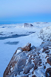 View from Sgurr an Fhidhleir in winter, Coigach, Wester Ross, Scotland, UK, December 2010 - Mark Hamblin / 2020VISION