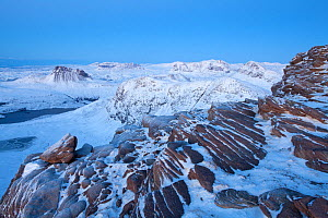 View from Sgurr an Fhidhleir in winter, Ben More Coigach, Wester Ross, Scotland, UK, December 2010 - Mark Hamblin / 2020VISION