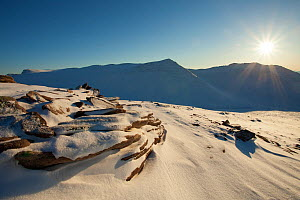 Ben More Coigach in winter, Wester Ross, Scotland, UK, December 2010. Did you know? Ben Mor Coigach is the Scottish Wildlife Trusts largest reserve.  -  Mark Hamblin / 2020VISION
