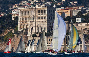 Boats competing in the Primo Cup - Trophy Credit Suisse. Montecarlo, Monaco, February 2012. For editorial use only.  -  Sea & See