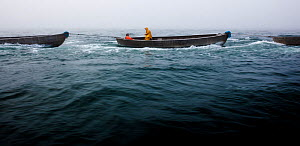 Scup fishermen off Sakonnet Point, Rhode Island, USA, May 2011. All non-editorial uses must be cleared individually.  -  Onne van der Wal