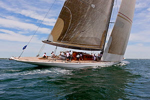 'Ranger' competing in the J-class Yacht Regatta, Newport, Rhode Island, USA, June 2011. All non-editorial uses must be cleared individually.  -  Onne van der Wal