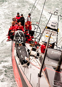 'PUMA Ocean Racing' in Start 3 of the Transatlantic Race, from Newport, Rhode Island, USA, July 2011. All non-editorial uses must be cleared individually.  -  Onne van der Wal