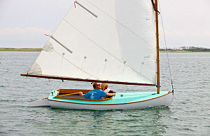 Boat racing in the Beetle Cat Championships, Weekapaug, Rhode Island, USA, August 2011. All non-editorial uses must be cleared individually.  -  Onne van der Wal