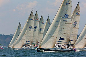 Fleet racing in the New York Yacht Club Invitational Cup, Newport, Rhode Island, September 2011. All non-editorial uses must be cleared individually.  -  Onne van der Wal
