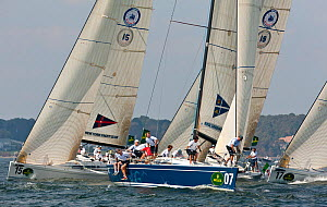 Yachts racing in the New York Yacht Club Invitational Cup, Newport, Rhode Island, September 2011. All non-editorial uses must be cleared individually.  -  Onne van der Wal
