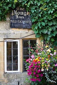 Outside view of The Plough Inn, Donnington, Gloucestershire, UK, July 2008.  -  Nick Turner