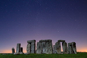 Stonehenge at night, Wiltshire, England, UK, September 2009.  -  Nick Turner