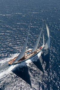 Aerial view of 'Adela' during the Superyacht Cup Palma, Mallorca, Spain, June 2011. All non-editorial uses must be cleared individually. - Ingrid Abery