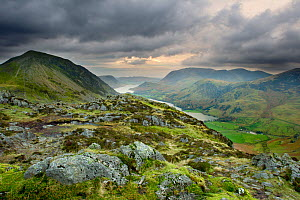 View from the summit of Haystacks towards Buttermere, Lake District NP, Cumbria, England, UK, November - Ben Hall / 2020VISION