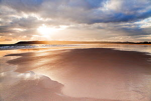 View across Oxwich Bay on the Gower Peninsula, South Glamorgan, Wales, January 2012.  -  Merryn Thomas