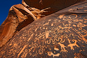 Petroglyphs on Newspaper Rock, Newspaper Rock State Park, Utah, USA, September 2010 - Ingo Arndt