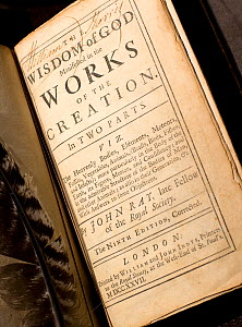 'The Wisdom of God manifested in the Works of Creation' by John Ray, the ninth edition of 1727. In this book Ray developed Natural Theology for an English audience. He argues that the proof of God is...  -  Paul D Stewart