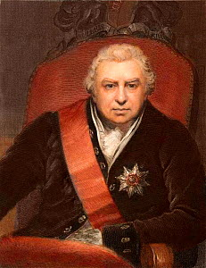Sir Joseph Banks, botanist and naturalist. (13th February 1743 - 19th June 1820). Engraving by C.E. Wagstaff with later colouring, after the painting of Banks as President of the Royal Society by Phil...  -  Paul D Stewart