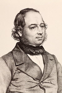 Portrait of John Gould (14 September 1804 - 3 February 1881). Engraving by T.H. Maguire 1849 as part of the friends of the Ipswich Museum series. Gould was a wildlife illustrator and ornithologist bor...  -  Paul D Stewart
