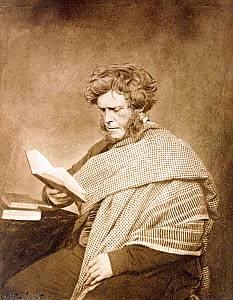 1856 portrait of Hugh Miller, Scottish geologist and palaeontologist, born 1802 died 1856. Photographic frontispiece of author by J.G. Tunny in some first editions of Miller's posthumous 1857 book 'Te...  -  Paul D Stewart