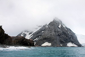 Elephant Island, South Shetland islands, Antarctica, Southern Ocean. Elephant Island is famous as Shackleton's 22 men were marooned there from May until 30 August 1916.  -  Sue Flood