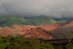 Power lines frame the irreversible damage caused by over 30 years of iron-ore mining in Kudremukh National Park, Karanataka, Western Ghats, Southern India.  If mining continues, the lives of hundreds...  -  Sandesh Kadur
