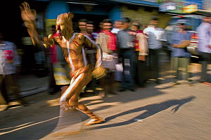 In many parts of southwestern India, humans paint themselves as tigers and dance through villages in an act known as Huli Vesha. It depicts man's intrinsic tie to the natural world and shows a deep-ro...  -  Sandesh Kadur