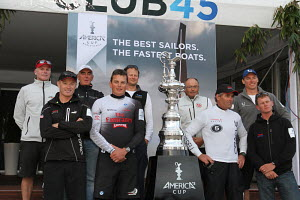 Trophy presentation during the America's Cup World Series in Plymouth, England, September 2011. All non-editorial uses must be cleared individually. - Ingrid Abery