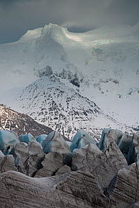 Svi�nafellsjokull glacier in the Vatnajokull ice cap, Skaftafell National Park, Iceland, March 2011 - Orsolya Haarberg