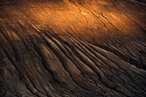 Patterns and sunlight on the slope of the Reykjafjoll mountain, Fjallabak Nature Reserve, Iceland, August 2010 - Erlend Haarberg