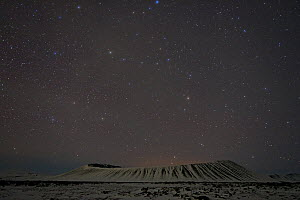 Hverfjall crater at night, Myvatn, Iceland, March 2011 - Erlend Haarberg