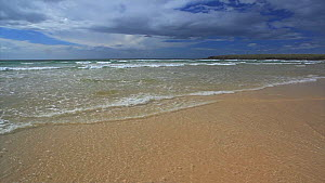 Gentle waves breaking on sandy beach, North Uist, Outer Hebrides, Scotland, UK, May  -  Peter  Cairns / 2020VISION