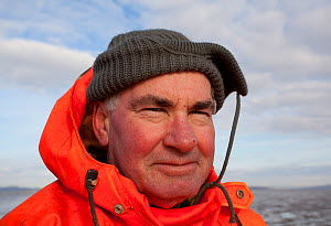 Portrait of a cockle fishermen, Morecambe Bay, Cumbria, England, UK, February 2012. Model released. 2020VISION Exhibition. - Peter Cairns / 2020VISION