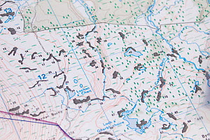 Maps showing plans for native tree planting at Abernethy Forest, Cairngorms National Park, Scotland, March 2012.  -  Peter Cairns / 2020VISION